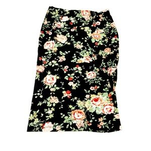 Rue 21 Floral Vintage Style Stretch Pencil Skirt